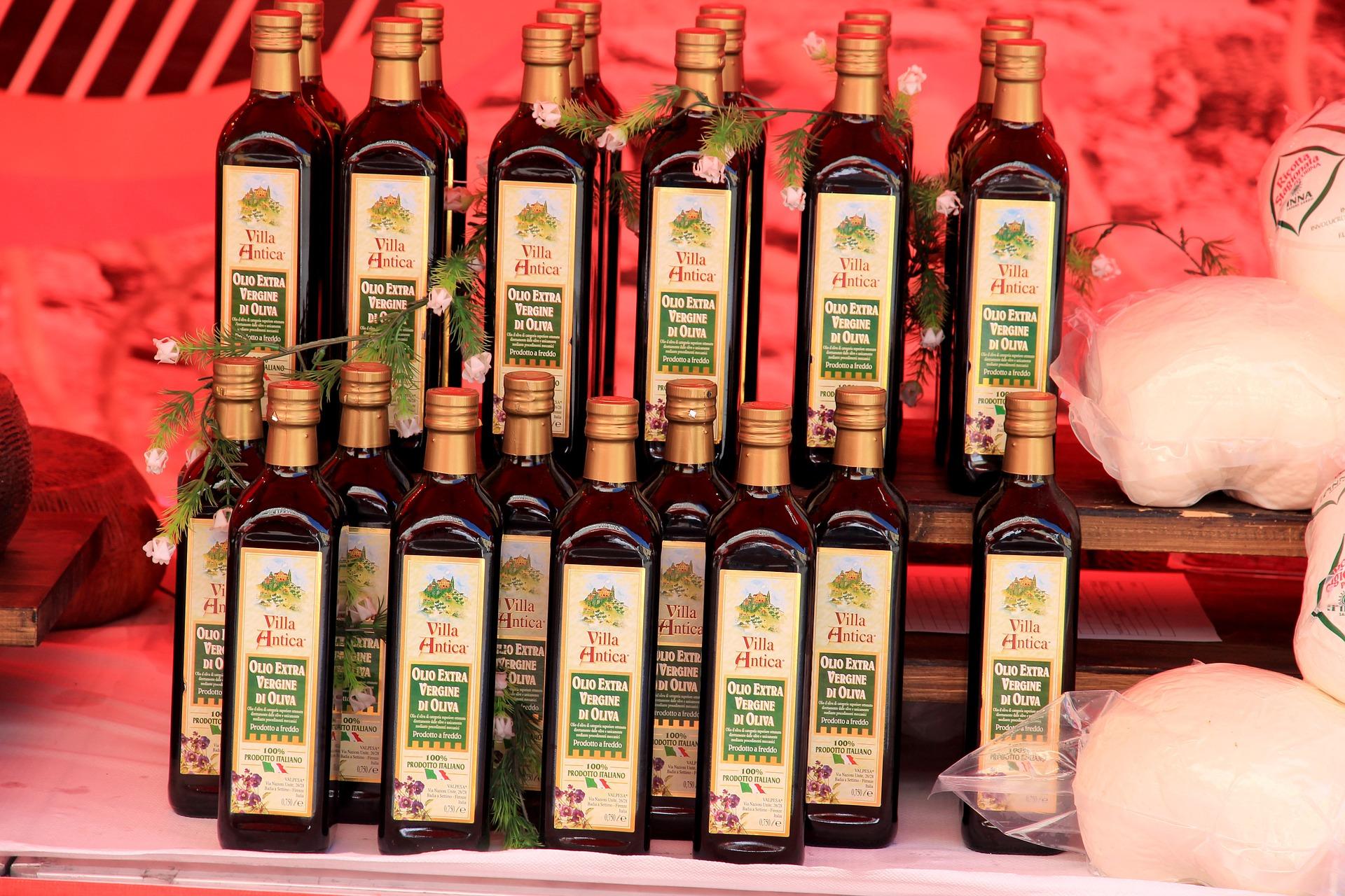spedire olio in Italia